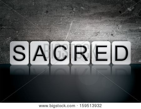 Sacred Tiled Letters Concept And Theme