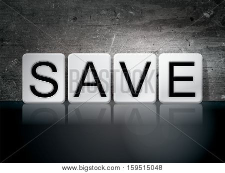 Save Tiled Letters Concept And Theme