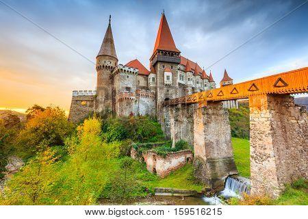 Hunyad Castle - Corvin's Castle in Hunedoara Romania.