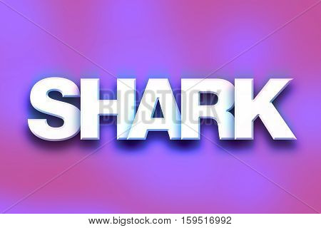 Shark Concept Colorful Word Art