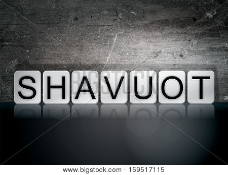 Shavuot Tiled Letters Concept And Theme