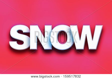 Snow Concept Colorful Word Art
