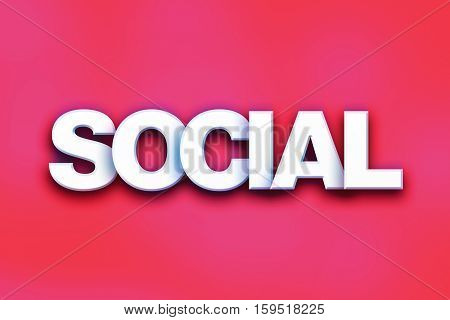 Social Concept Colorful Word Art