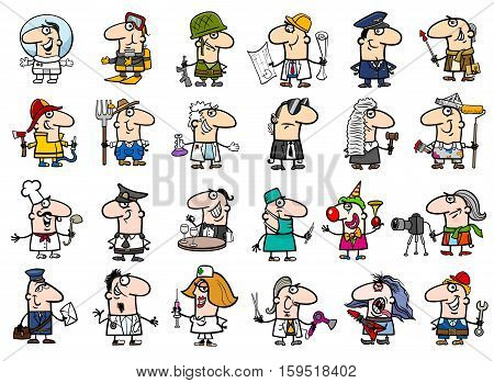 Occupations Cartoon Set