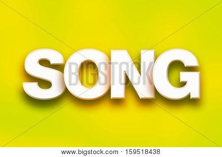 Song Concept Colorful Word Art