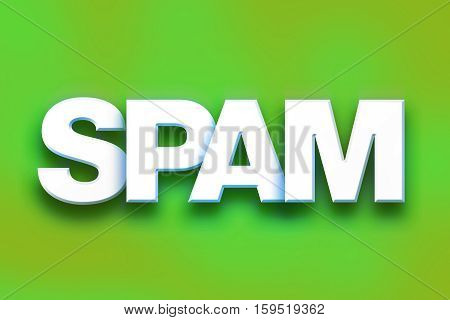 Spam Concept Colorful Word Art