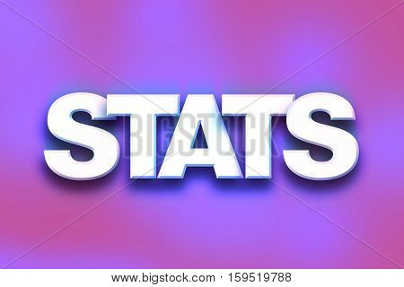 Stats Concept Colorful Word Art