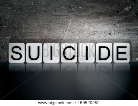 Suicide Tiled Letters Concept And Theme
