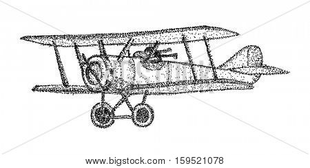 vector - biplane - isolated on background