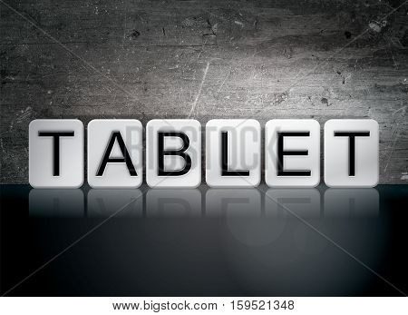 Tablet Tiled Letters Concept And Theme