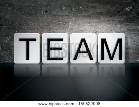 Team Tiled Letters Concept And Theme