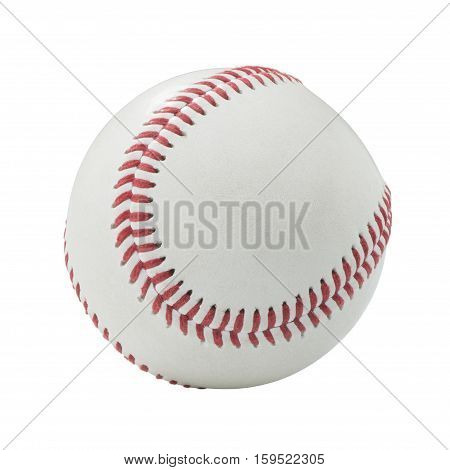 Photograph of a Baseball on a White Background