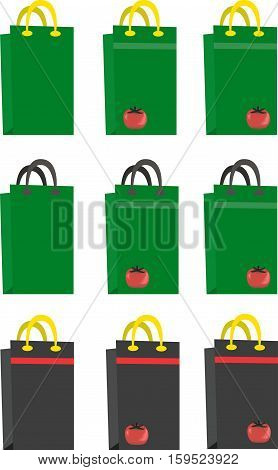Vector illustration of bags. Accessories for the buyers and sellers.