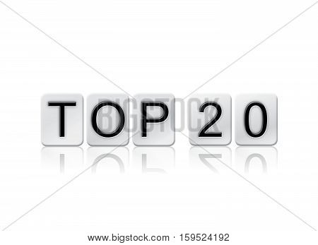 Top 20 Isolated Tiled Letters Concept And Theme