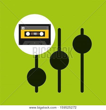 frequency music cassette tape vector illustration eps 10