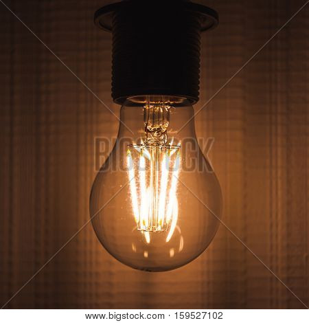 Retro Tungsten Lamp Glows