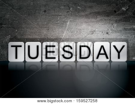 Tuesday Tiled Letters Concept And Theme