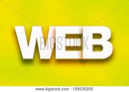 Web Concept Colorful Word Art