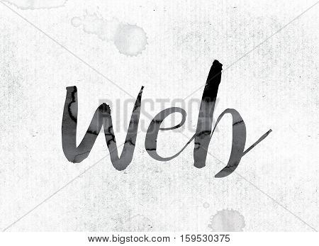 Web Concept Painted In Ink