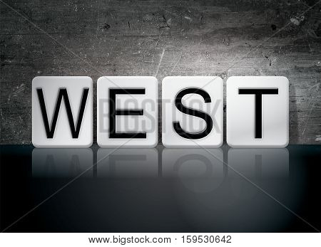 West Tiled Letters Concept And Theme