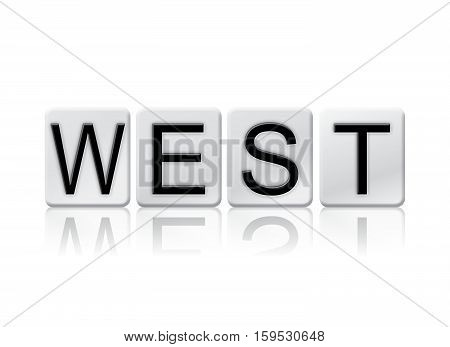 West Isolated Tiled Letters Concept And Theme