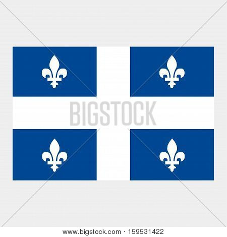 Flag of Quebec on a grey background