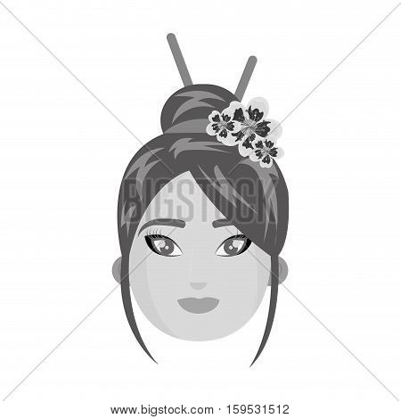 beautiful geisha japan character vector illustration design