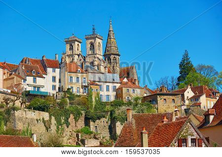Semur-en-auxois, A Village In Burgundy, France