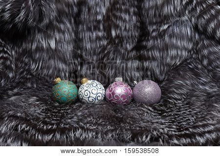 Christmas Decoration Toys On Fur