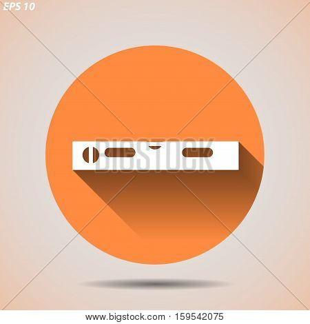 Construction icon level on a light background