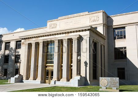 The state of Wyoming Supreme Court building is located in Cheyenne WY USA.