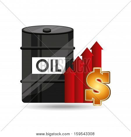 barrel oil concept price growth vector illustration eps 10