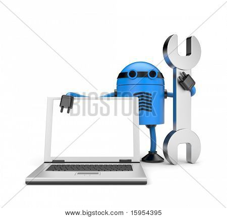 Robot con notebook