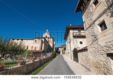 Valpuesta village and ancient monastery origin of the spanish lenguage. Burgos Spain.