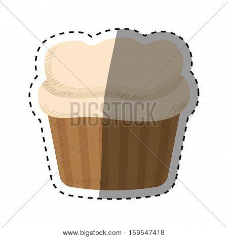 Delicious cupcake dessert icon vector illustration graphic design