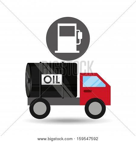 tank truck oil industry gasoline vector illustration eps 10