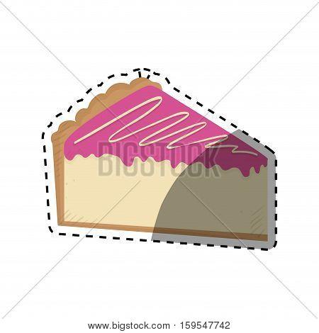 delicious Cake dessert icon vector illustration graphic design