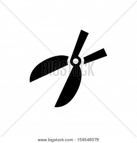 Garden scissors Icon. Flat illustration isolated vector sign symbol