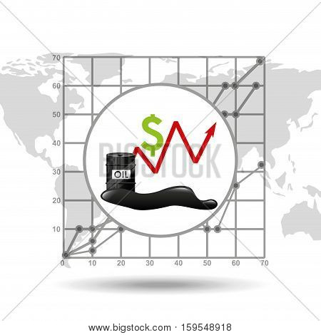 growth price oil industry growth diagram background vector illustration eps 10