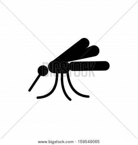 Mosquito Icon. Flat illustration isolated vector sign symbol