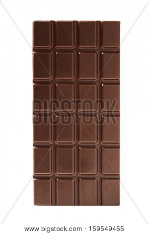 Chocolate bars isolated on white -Clipping Path