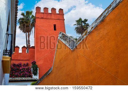 Seville Juderia barrio in Andalusia Sevilla of Spain