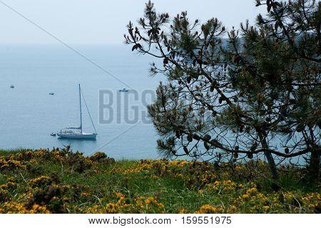 Beautiful Landscape Of Belle-ile-en-mer In Brittany, France