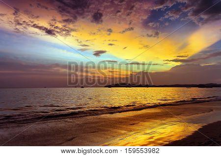 Sunset Beach. Ao Nang, Krabi Province