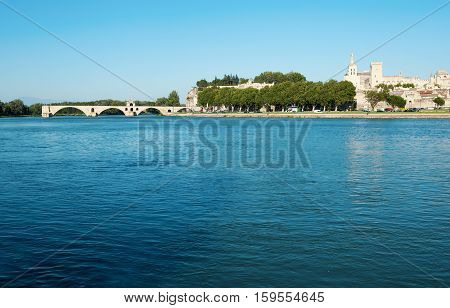 Pont Saint-benezet Also Known As Pont D'avignon In Avignon, France