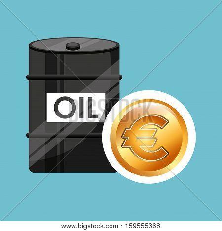 barrel oil concept money international euro vector illustration eps 10