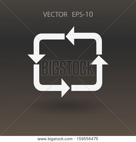 Flat icon of cyclic. vector illustration