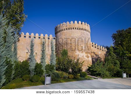 Ancient  fortress in down town (Icheri Sheher), Baku, Azerbaijan