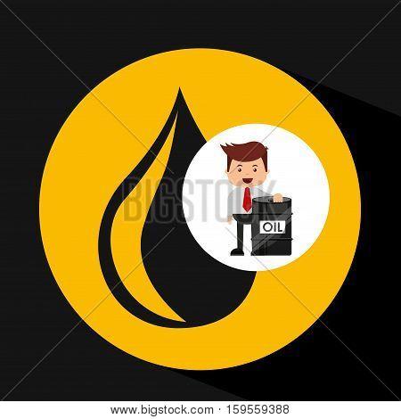 businessman oil industry barrel icon vector illustration eps 10