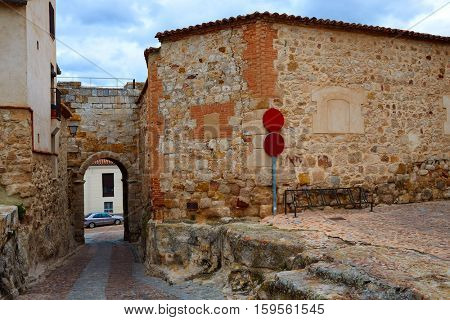 Zamora door of Dona Urraca in Spain by the via de la Plata way of Saint James exterior image shot from public floor